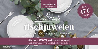 Treueaktion Rosenthal Tischjuwelen